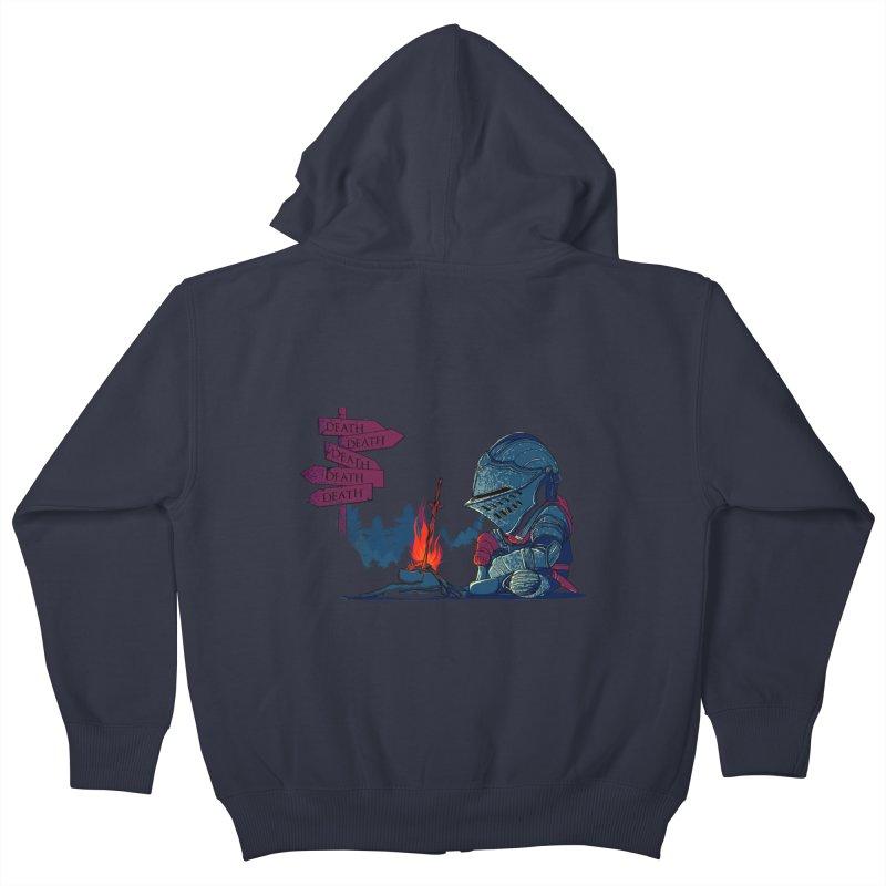 Dark Deathtiny Kids Zip-Up Hoody by Donnie's Artist Shop