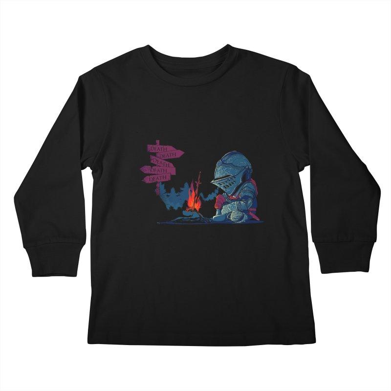 Dark Deathtiny Kids Longsleeve T-Shirt by Donnie's Artist Shop