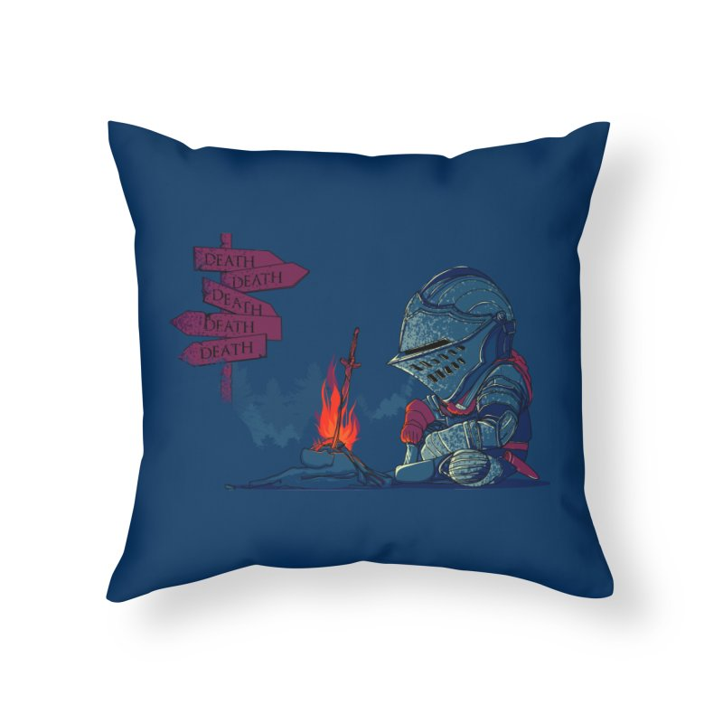 Dark Deathtiny Home Throw Pillow by Donnie's Artist Shop