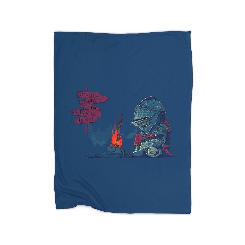 Dark Deathtiny Home Blanket by Donnie's Artist Shop
