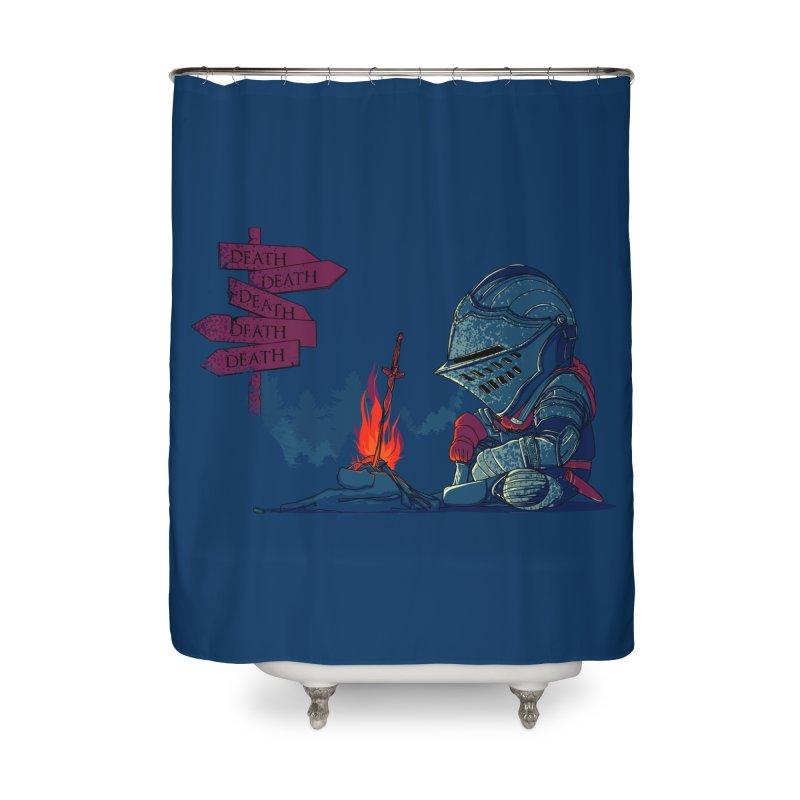 Dark Deathtiny Home Shower Curtain by Donnie's Artist Shop