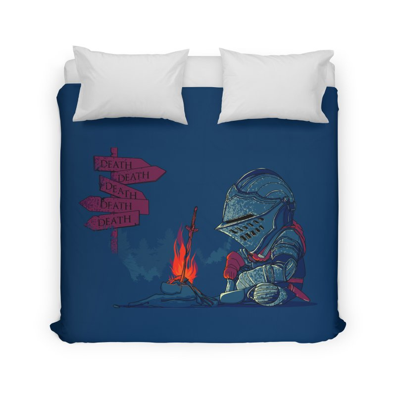 Dark Deathtiny Home Duvet by Donnie's Artist Shop