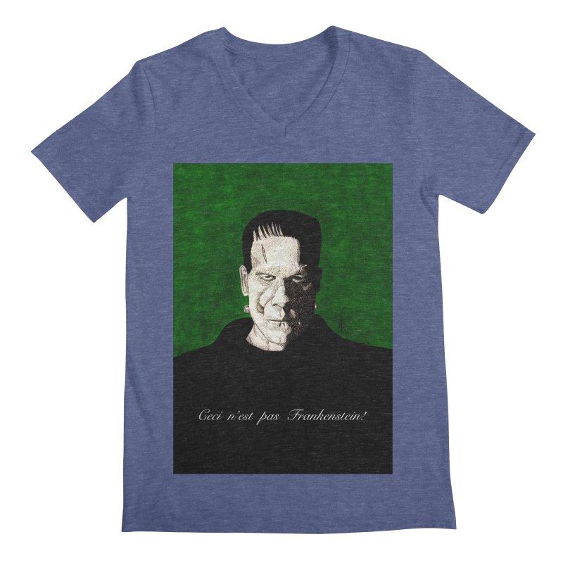 This is not Frankenstein Men's V-Neck by donnovanknight's Artist Shop