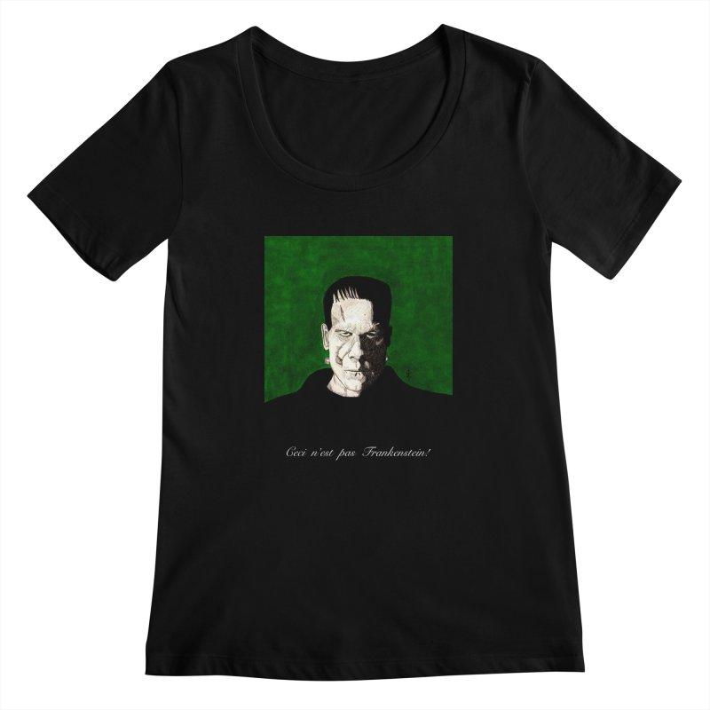 This is not Frankenstein Women's Scoopneck by donnovanknight's Artist Shop