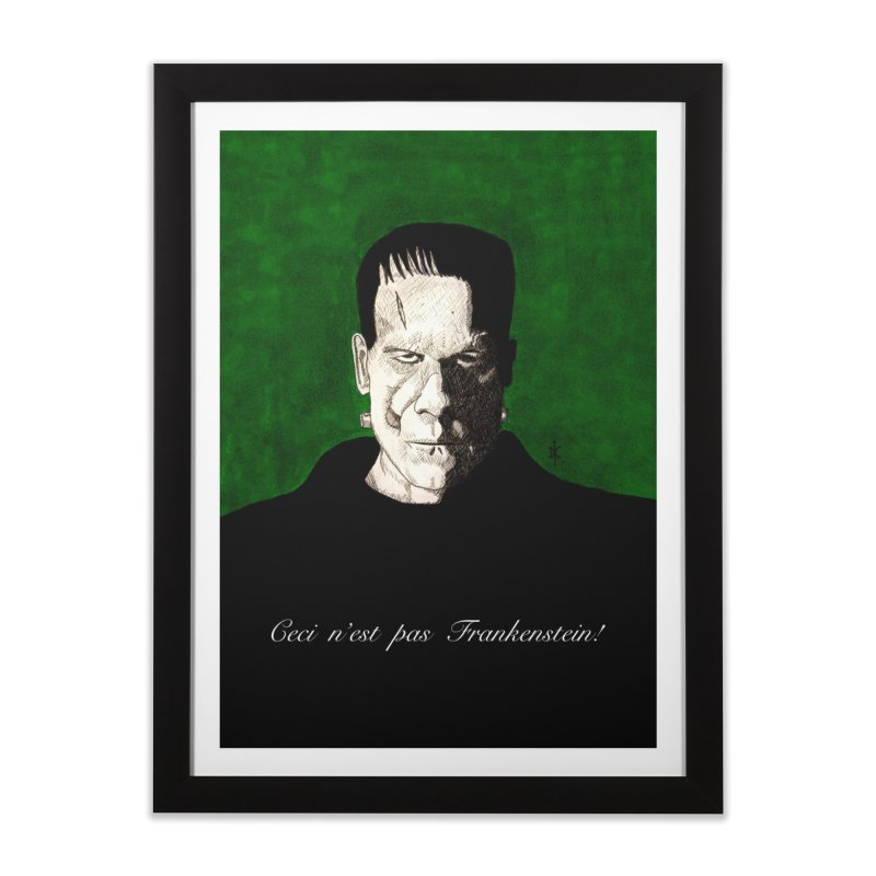 This is not Frankenstein Home Framed Fine Art Print by donnovanknight's Artist Shop