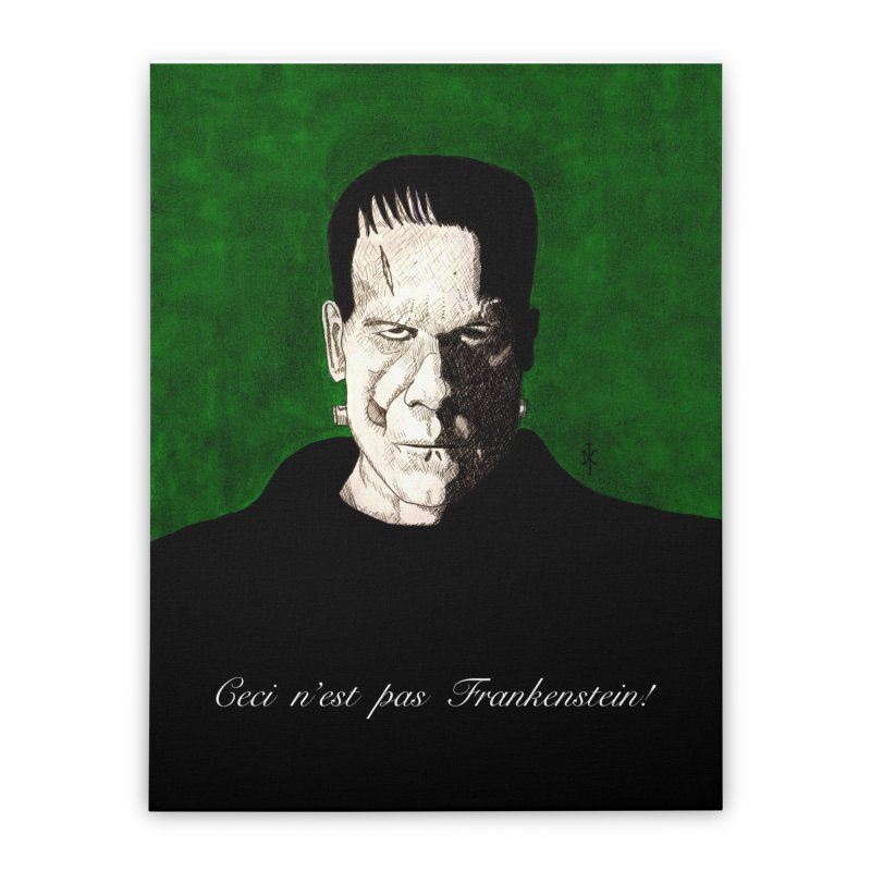 This is not Frankenstein Home Stretched Canvas by donnovanknight's Artist Shop