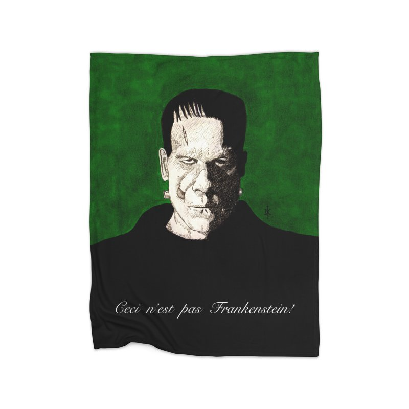 This is not Frankenstein Home Blanket by donnovanknight's Artist Shop