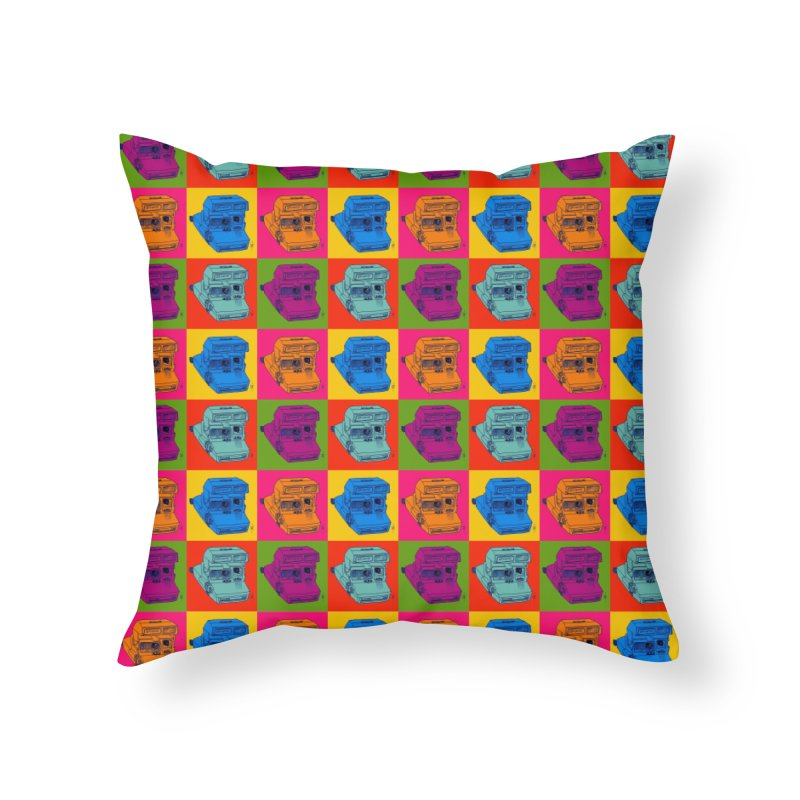 Mini Instant Pop Home Throw Pillow by donnovanknight's Artist Shop