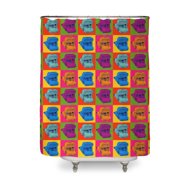 Mini Instant Pop Home Shower Curtain by donnovanknight's Artist Shop