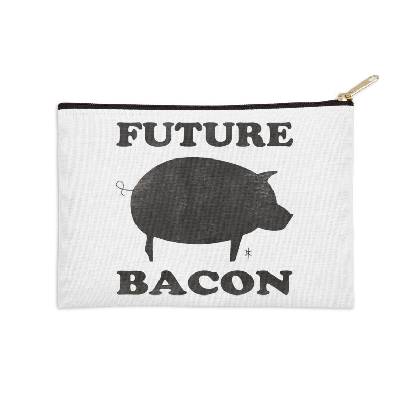 Future Bacon Accessories Zip Pouch by donnovanknight's Artist Shop