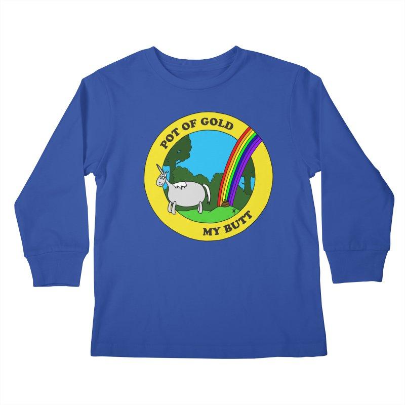 Pot of Gold, My Butt Kids Longsleeve T-Shirt by donnovanknight's Artist Shop