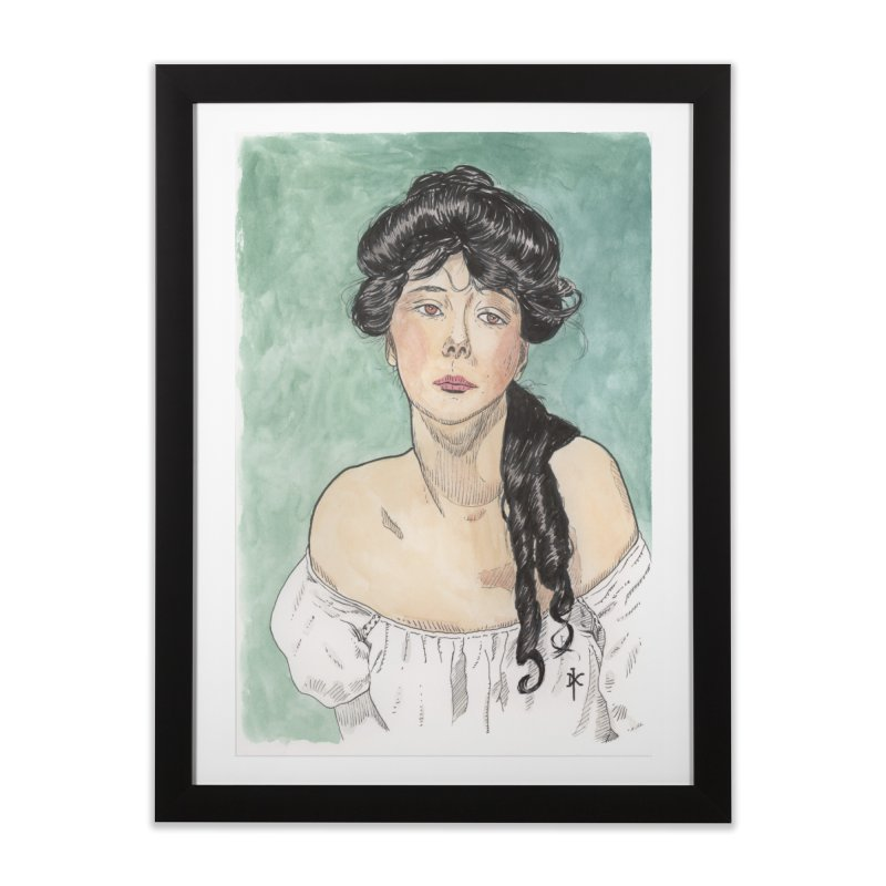 Evelyn Nesbit - Gibson Girl Home Framed Fine Art Print by donnovanknight's Artist Shop