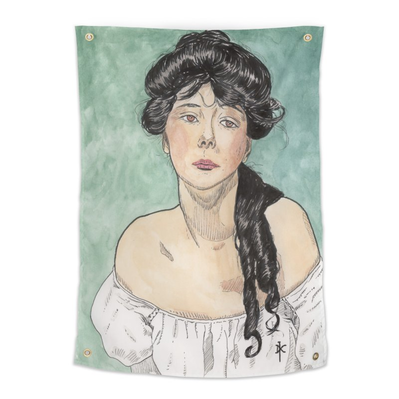 Evelyn Nesbit - Gibson Girl Home Tapestry by donnovanknight's Artist Shop