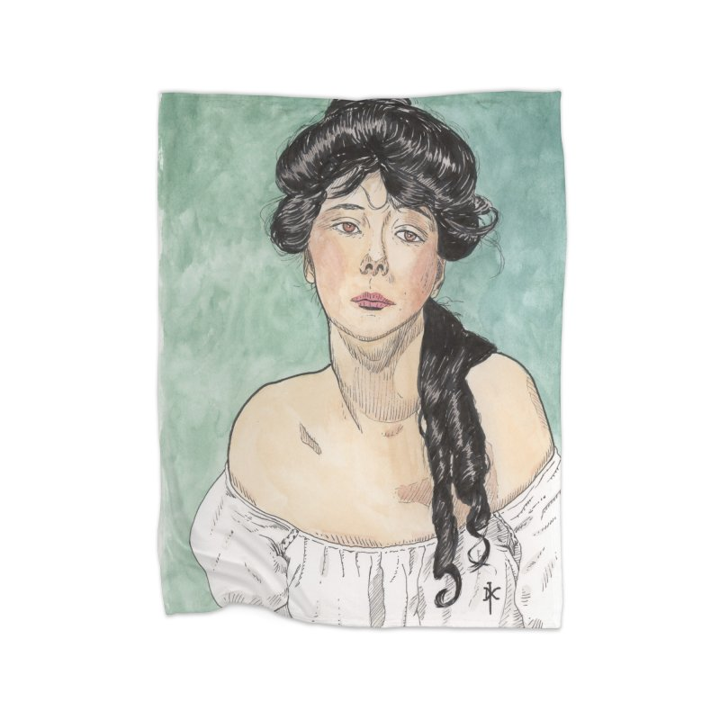 Evelyn Nesbit - Gibson Girl Home Blanket by donnovanknight's Artist Shop