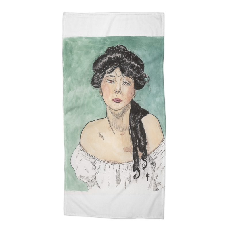 Evelyn Nesbit - Gibson Girl Accessories Beach Towel by donnovanknight's Artist Shop