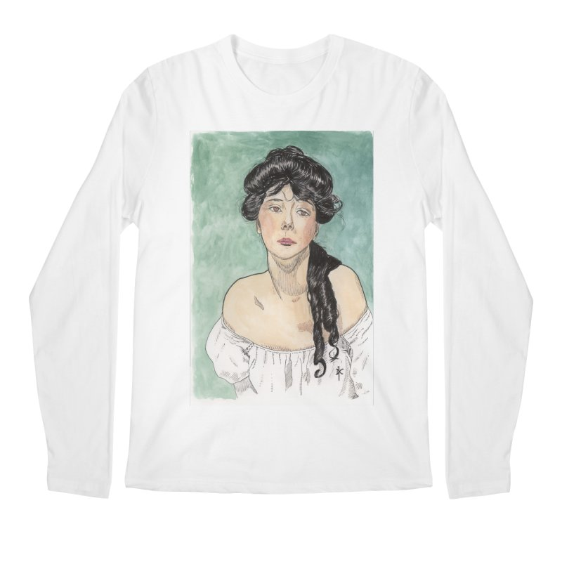 Evelyn Nesbit - Gibson Girl Men's Longsleeve T-Shirt by donnovanknight's Artist Shop