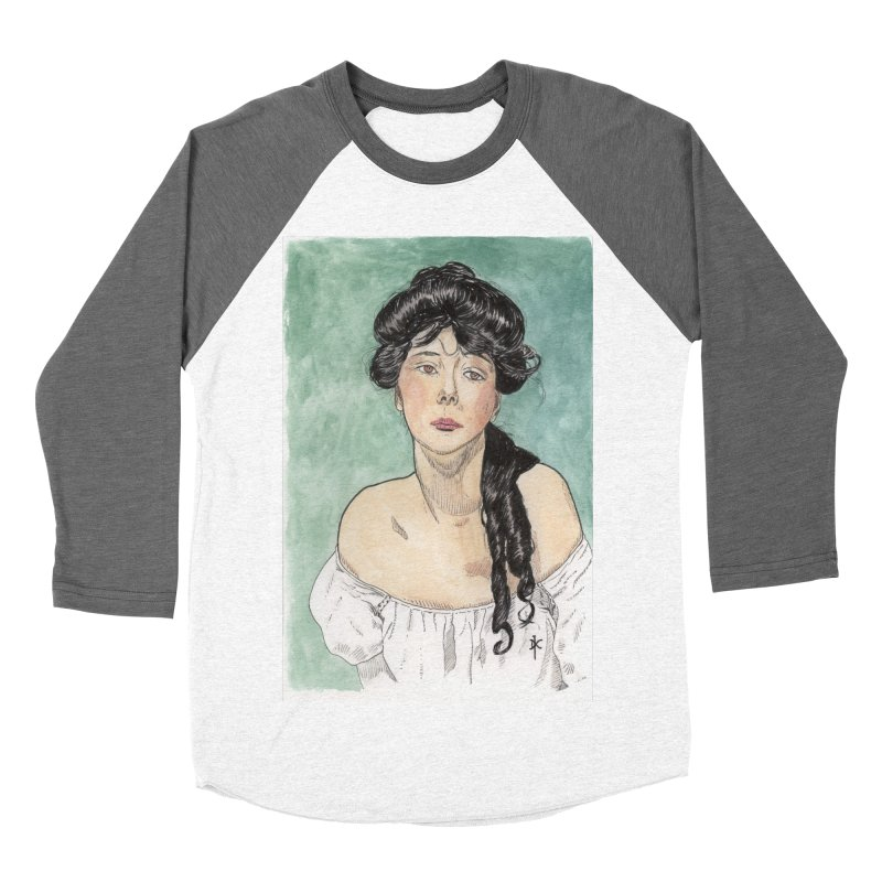 Evelyn Nesbit - Gibson Girl Men's Baseball Triblend T-Shirt by donnovanknight's Artist Shop