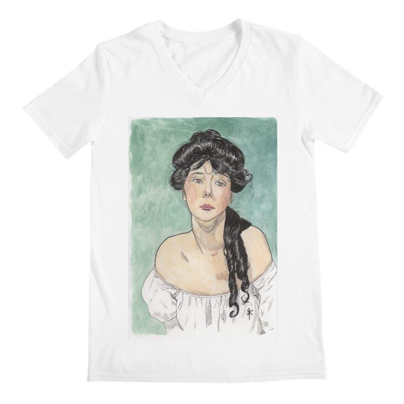 Evelyn Nesbit - Gibson Girl Men's V-Neck by donnovanknight's Artist Shop