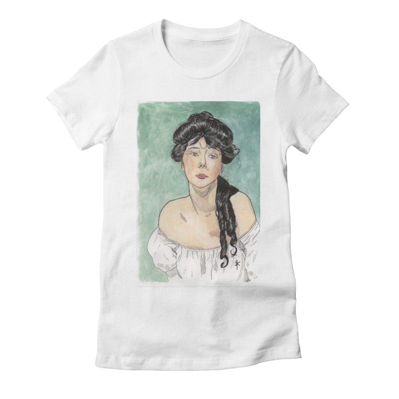 Evelyn Nesbit - Gibson Girl Women's Fitted T-Shirt by donnovanknight's Artist Shop