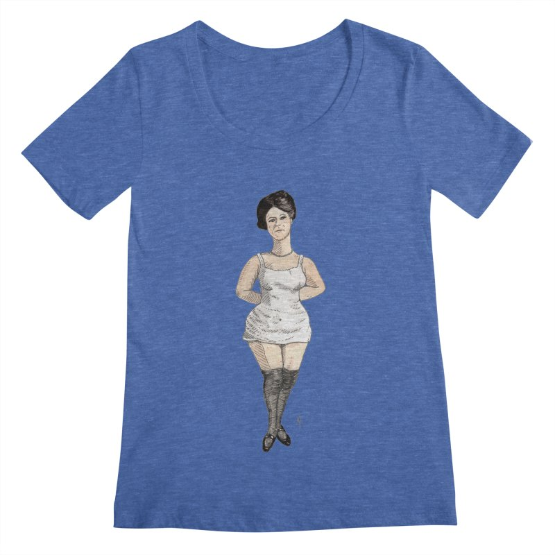 Thick Thighs Women's Scoopneck by donnovanknight's Artist Shop