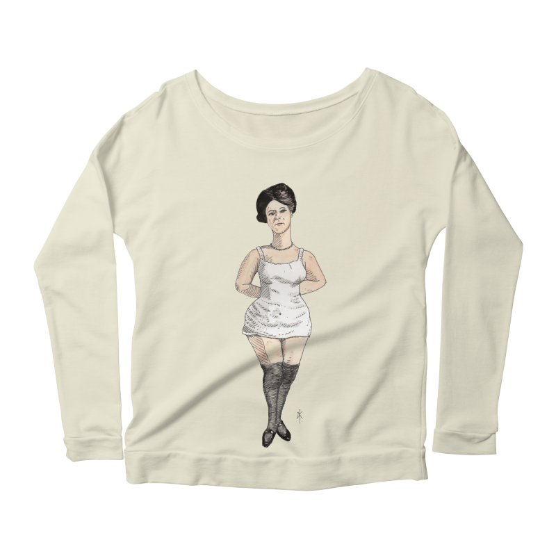 Thick Thighs Women's Longsleeve Scoopneck  by donnovanknight's Artist Shop