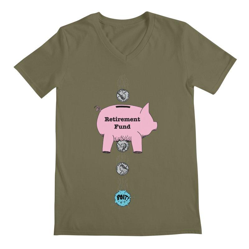 Piggy Bank - Retirement Fund? Men's V-Neck by donnovanknight's Artist Shop