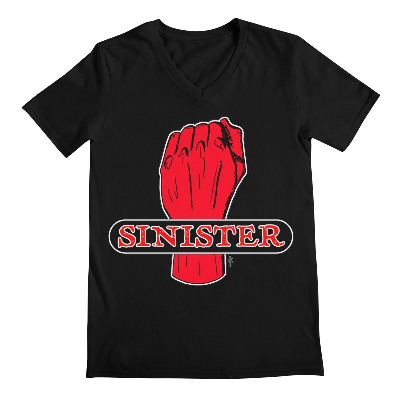 Are you Sinister? Left Handers Day Men's V-Neck by donnovanknight's Artist Shop