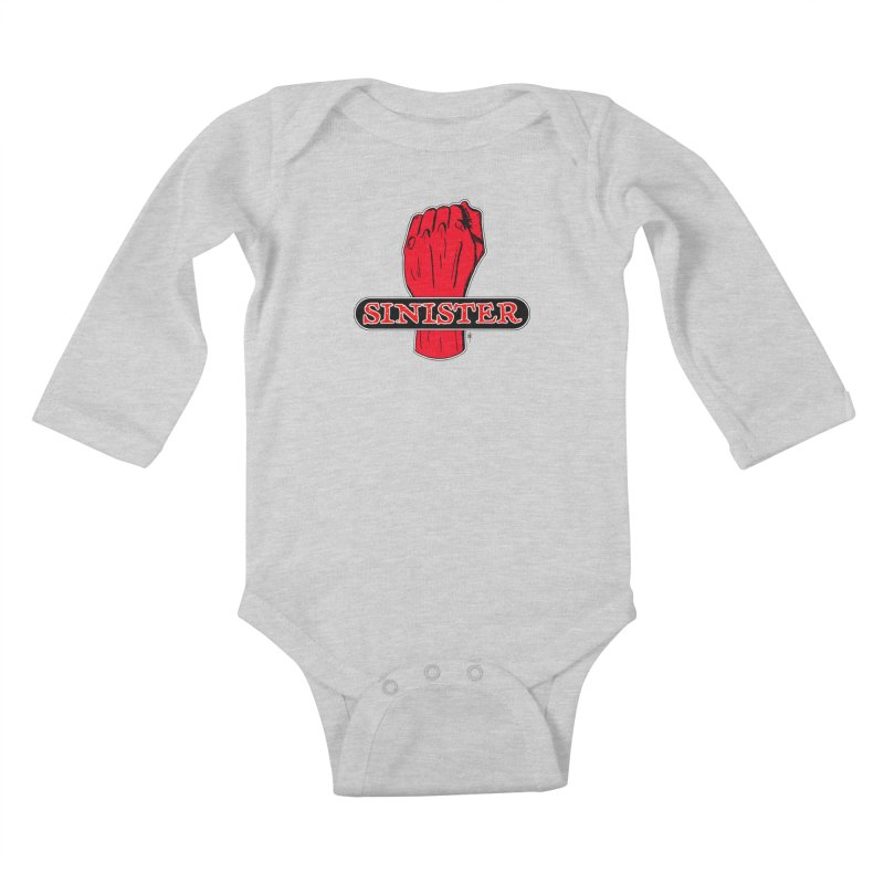 Are you Sinister? Left Handers Day Kids Baby Longsleeve Bodysuit by donnovanknight's Artist Shop