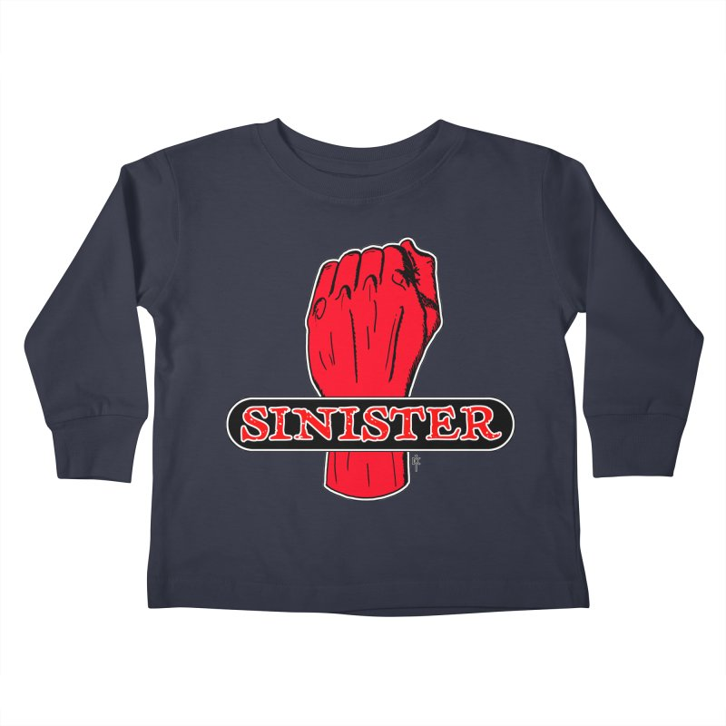 Are you Sinister? Left Handers Day Kids Toddler Longsleeve T-Shirt by donnovanknight's Artist Shop