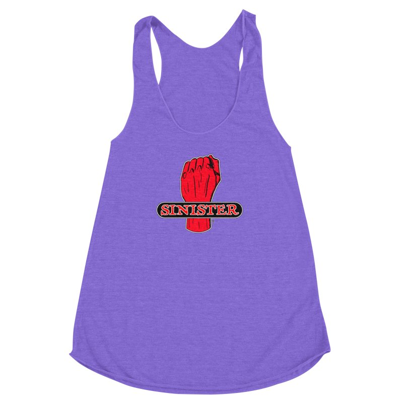 Are you Sinister? Left Handers Day Women's Racerback Triblend Tank by donnovanknight's Artist Shop