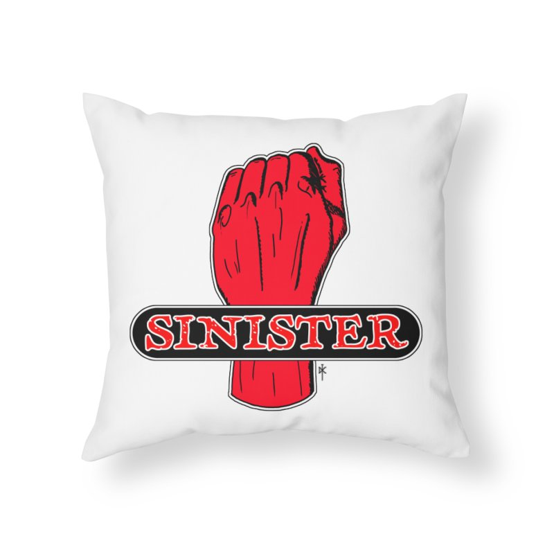 Are you Sinister? Left Handers Day Home Throw Pillow by donnovanknight's Artist Shop