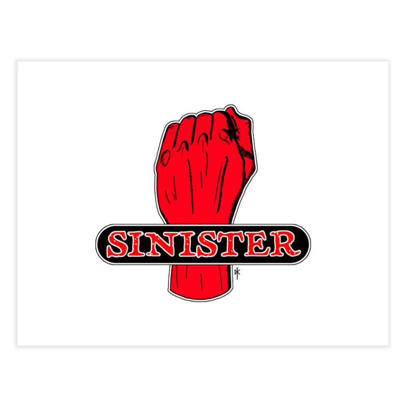 Are you Sinister? Left Handers Day Home Fine Art Print by donnovanknight's Artist Shop