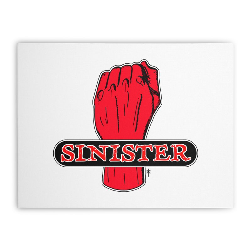 Are you Sinister? Left Handers Day Home Stretched Canvas by donnovanknight's Artist Shop