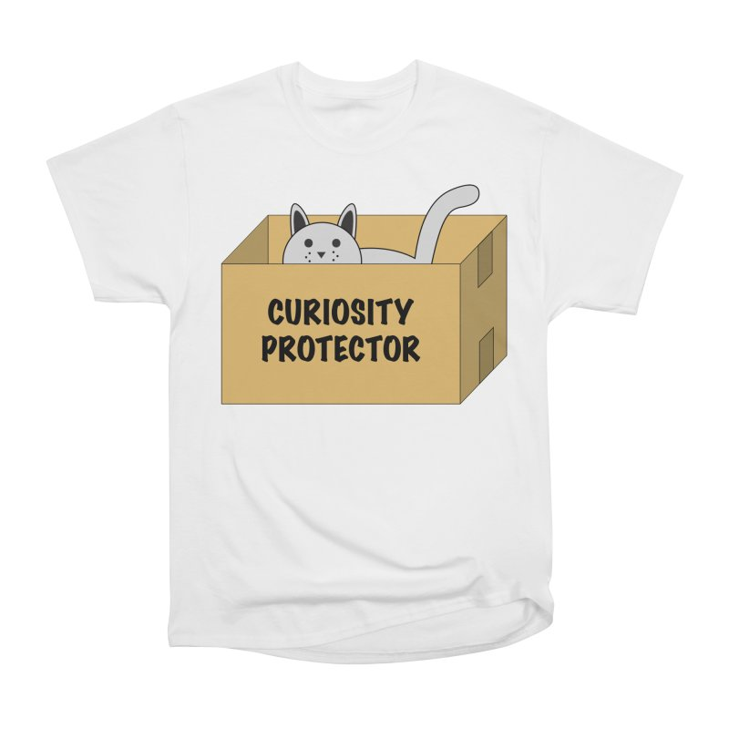 """Cat """"Curiosity Protector"""" A.K.A. """"BOX"""" Women's Classic Unisex T-Shirt by donnovanknight's Artist Shop"""