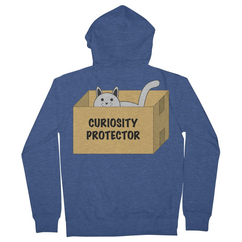 """Cat """"Curiosity Protector"""" A.K.A. """"BOX"""" Women's Zip-Up Hoody by donnovanknight's Artist Shop"""