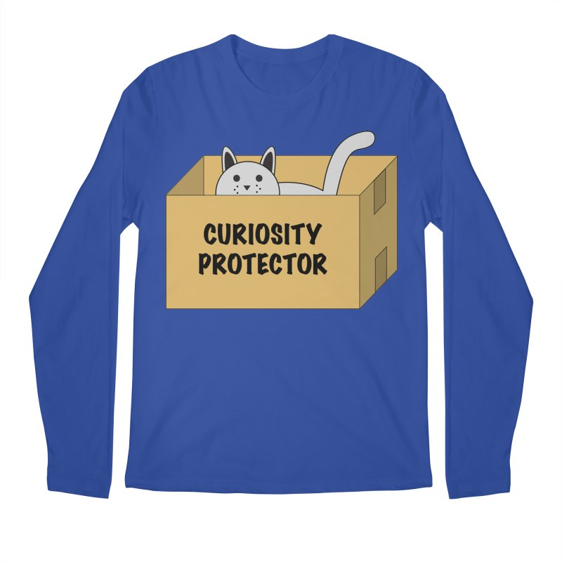 "Cat ""Curiosity Protector"" A.K.A. ""BOX"" Men's Longsleeve T-Shirt by donnovanknight's Artist Shop"