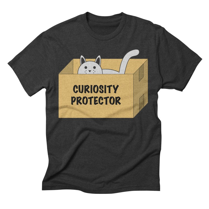 "Cat ""Curiosity Protector"" A.K.A. ""BOX"" Men's Triblend T-shirt by donnovanknight's Artist Shop"