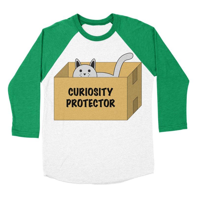 "Cat ""Curiosity Protector"" A.K.A. ""BOX"" Men's Baseball Triblend T-Shirt by donnovanknight's Artist Shop"
