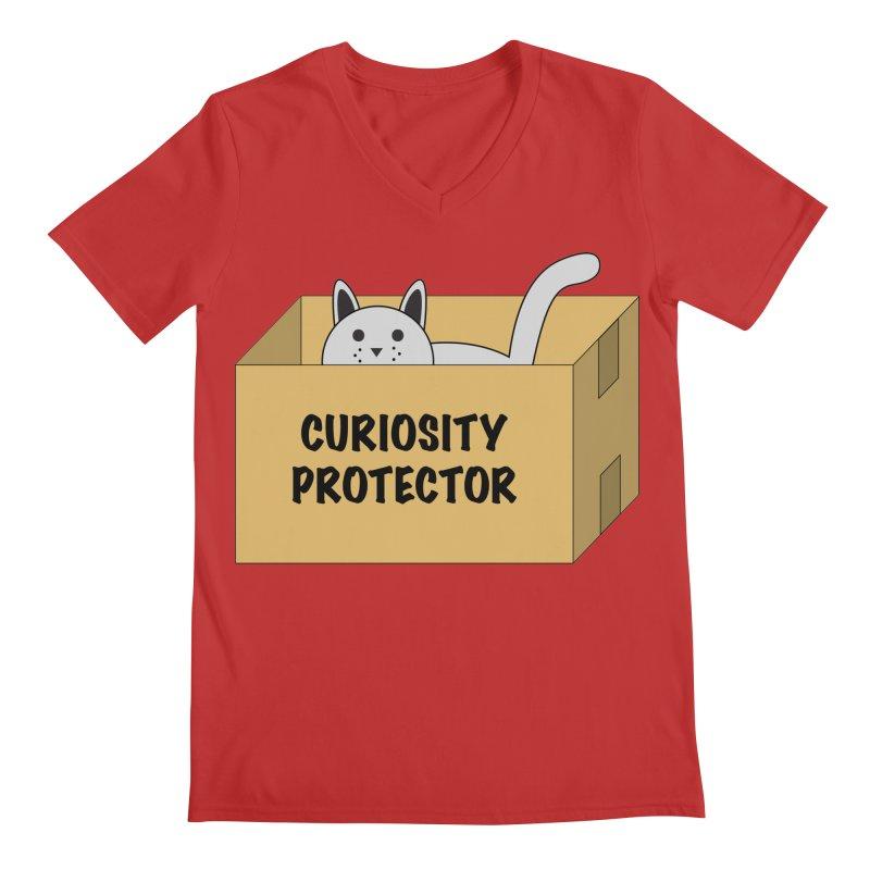 "Cat ""Curiosity Protector"" A.K.A. ""BOX"" Men's V-Neck by donnovanknight's Artist Shop"