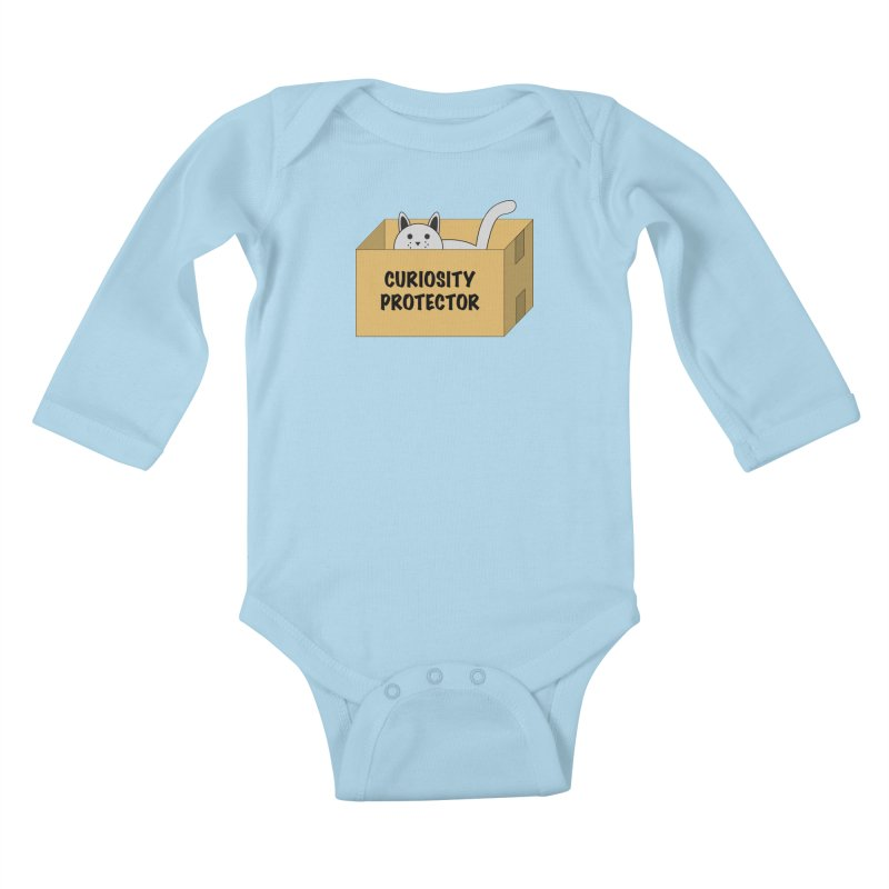 "Cat ""Curiosity Protector"" A.K.A. ""BOX"" Kids Baby Longsleeve Bodysuit by donnovanknight's Artist Shop"