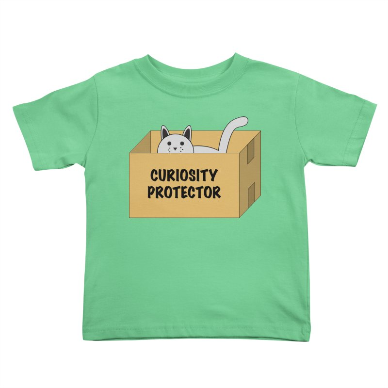 """Cat """"Curiosity Protector"""" A.K.A. """"BOX"""" Kids Toddler T-Shirt by donnovanknight's Artist Shop"""