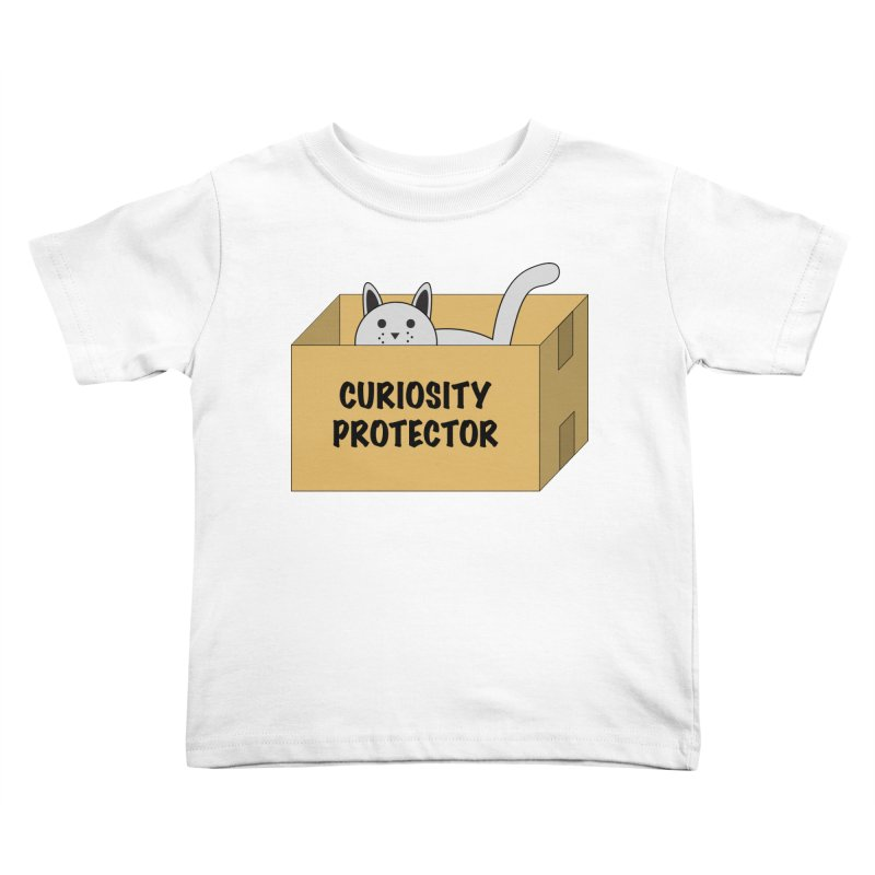"Cat ""Curiosity Protector"" A.K.A. ""BOX"" Kids Toddler T-Shirt by donnovanknight's Artist Shop"