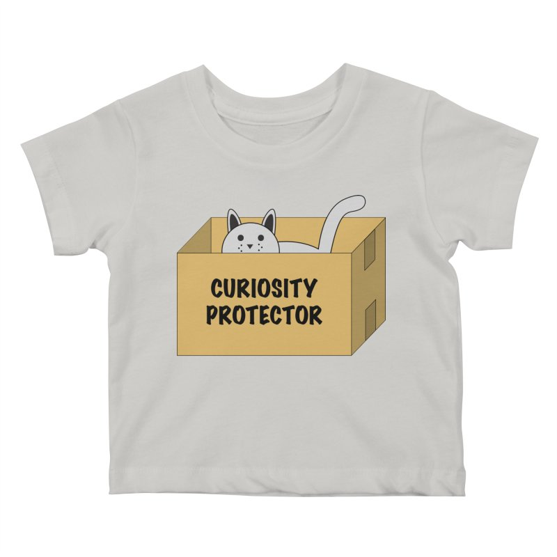 "Cat ""Curiosity Protector"" A.K.A. ""BOX"" Kids Baby T-Shirt by donnovanknight's Artist Shop"