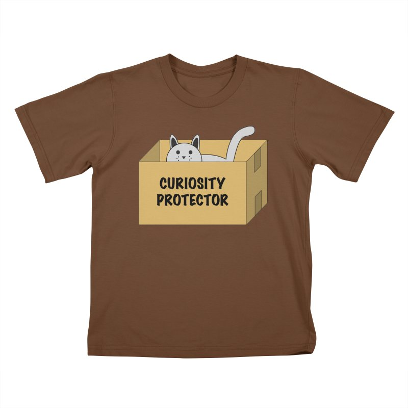 """Cat """"Curiosity Protector"""" A.K.A. """"BOX"""" Kids T-shirt by donnovanknight's Artist Shop"""