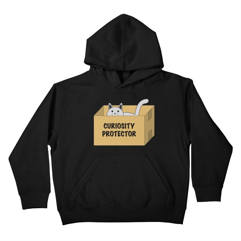 "Cat ""Curiosity Protector"" A.K.A. ""BOX"" Kids Pullover Hoody by donnovanknight's Artist Shop"