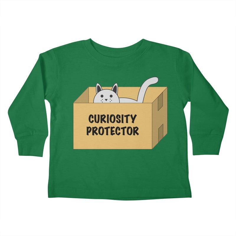 "Cat ""Curiosity Protector"" A.K.A. ""BOX"" Kids Toddler Longsleeve T-Shirt by donnovanknight's Artist Shop"