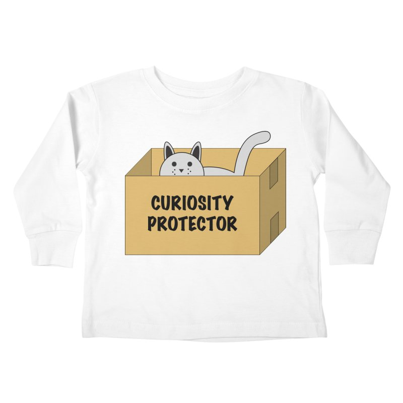 "Cat ""Curiosity Protector"" A.K.A. ""BOX"" Kids Toddler Longsleeve T-Shirt by donnovanknight's Artist Shop"