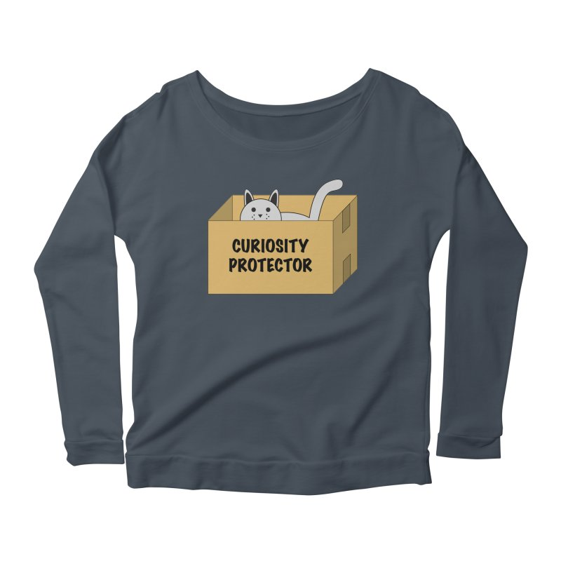 "Cat ""Curiosity Protector"" A.K.A. ""BOX"" Women's Longsleeve Scoopneck  by donnovanknight's Artist Shop"