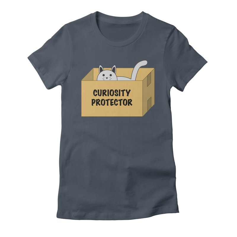 "Cat ""Curiosity Protector"" A.K.A. ""BOX"" Women's Fitted T-Shirt by donnovanknight's Artist Shop"