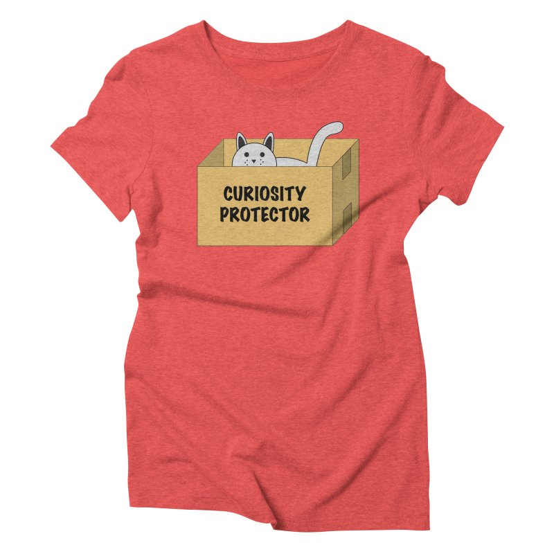 """Cat """"Curiosity Protector"""" A.K.A. """"BOX"""" Women's Triblend T-shirt by donnovanknight's Artist Shop"""